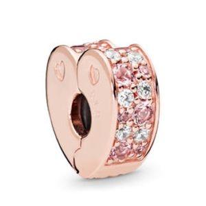 2 New Pandora Rose Arch Of Love Clip Set